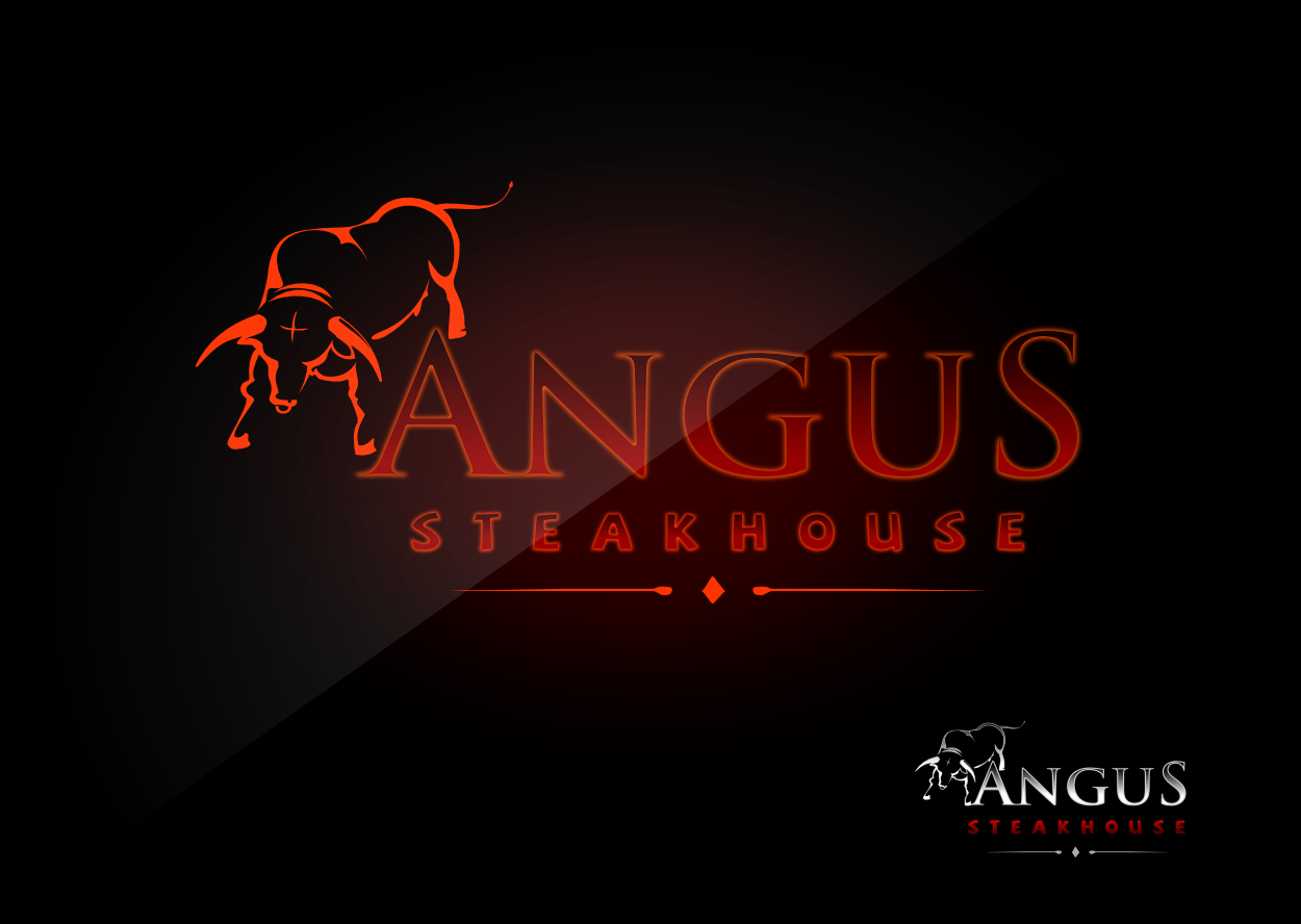 Logo Design by whoosef - Entry No. 108 in the Logo Design Contest Imaginative Custom Design for Angus Steakhouse.