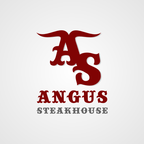 Logo Design by Rudy - Entry No. 109 in the Logo Design Contest Imaginative Custom Design for Angus Steakhouse.