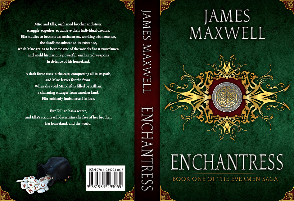 Book Cover Design by Dimitris Koletsis - Entry No. 12 in the Book Cover Design Contest Book Cover Design for Epic Fantasy Novel: Enchantress.