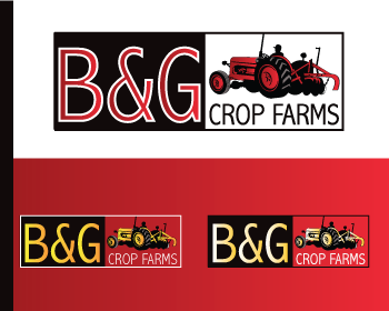 Logo Design by Nadia Khan - Entry No. 5 in the Logo Design Contest Artistic Logo Design for B & G Crop Farms.