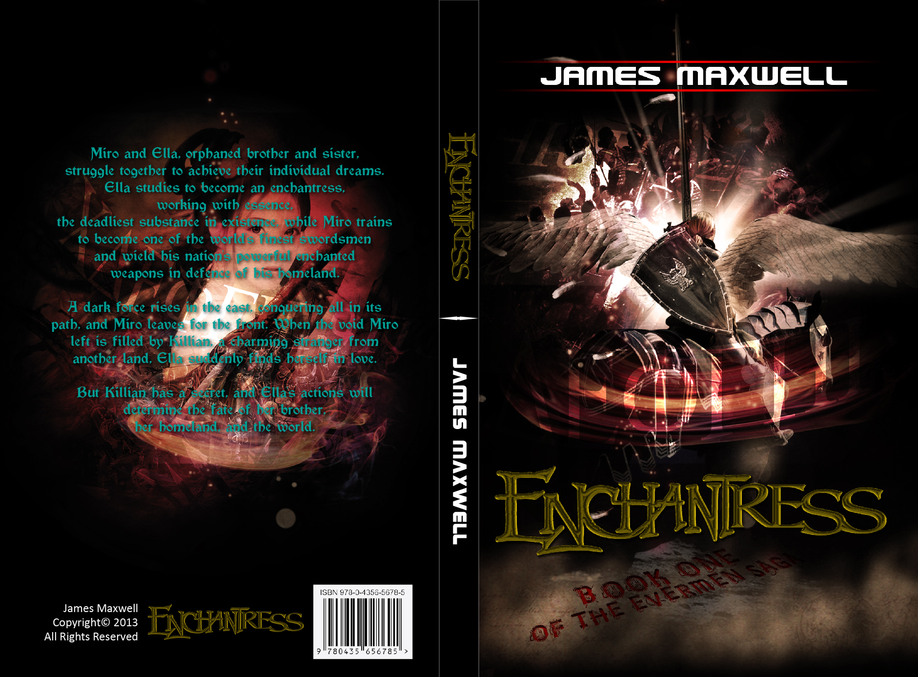 Book Cover Design by lagalag - Entry No. 13 in the Book Cover Design Contest Book Cover Design for Epic Fantasy Novel: Enchantress.
