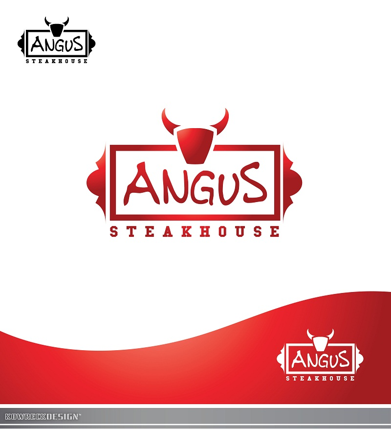 Logo Design by kowreck - Entry No. 111 in the Logo Design Contest Imaginative Custom Design for Angus Steakhouse.