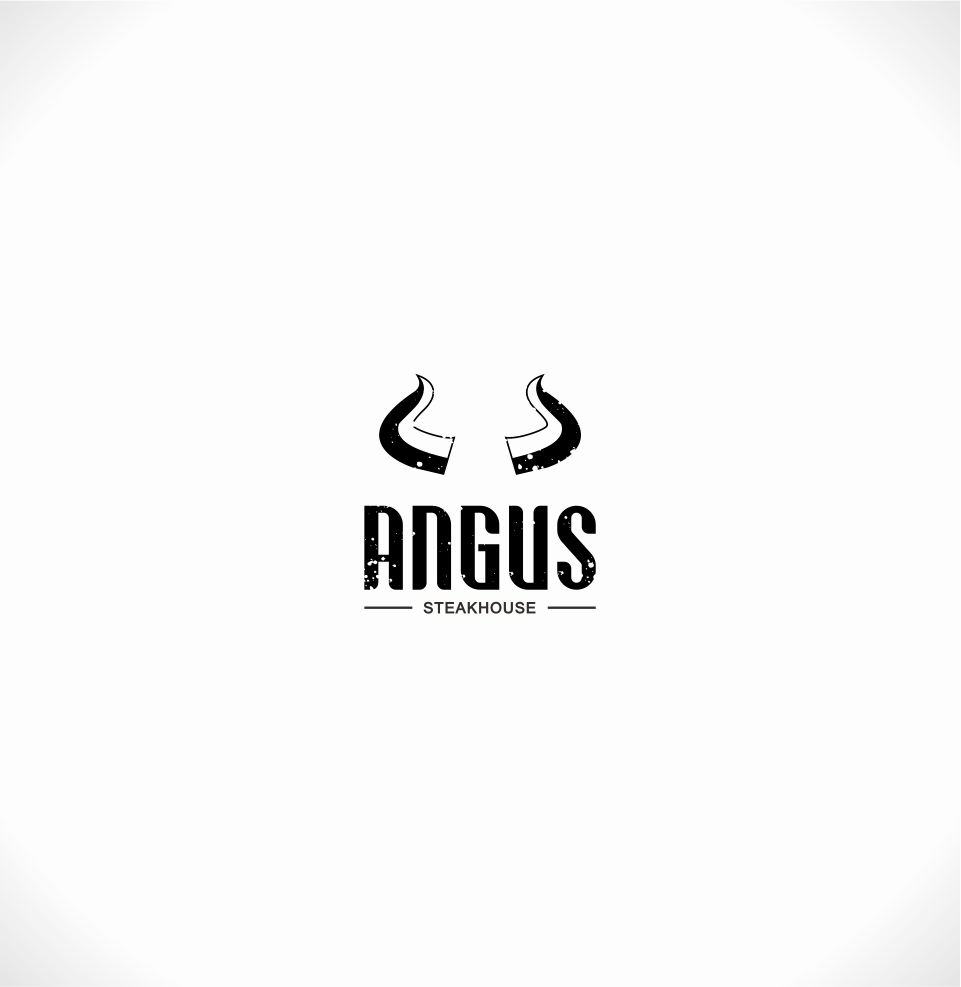 Logo Design by Mitchnick Sunardi - Entry No. 113 in the Logo Design Contest Imaginative Custom Design for Angus Steakhouse.