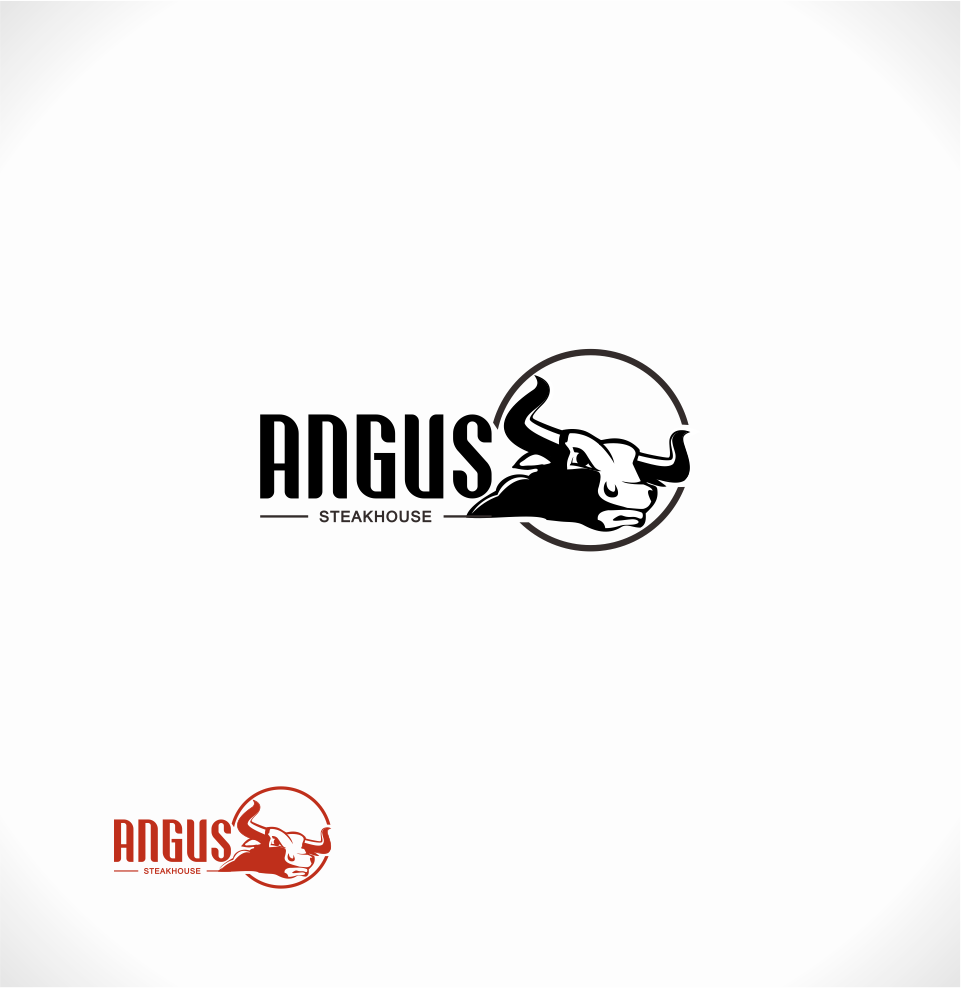 Logo Design by Mitchnick Sunardi - Entry No. 114 in the Logo Design Contest Imaginative Custom Design for Angus Steakhouse.