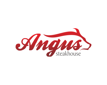 Logo Design by MSahlan Hawasyi - Entry No. 115 in the Logo Design Contest Imaginative Custom Design for Angus Steakhouse.