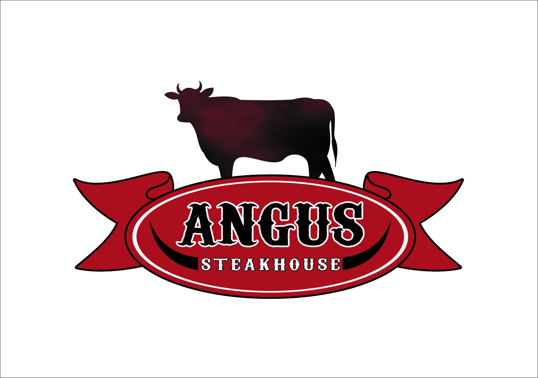 Logo Design by Ngepet_art - Entry No. 118 in the Logo Design Contest Imaginative Custom Design for Angus Steakhouse.