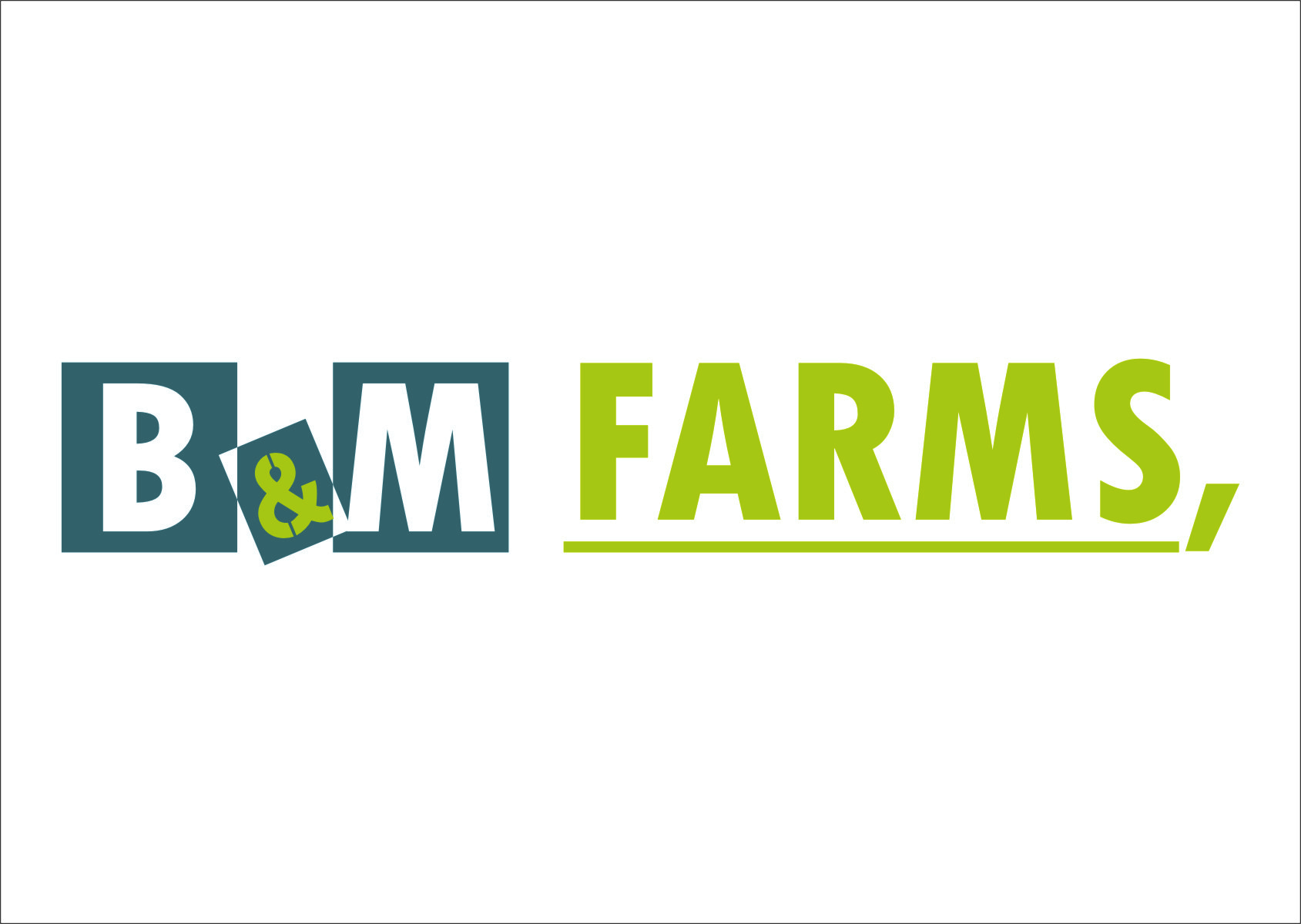 Logo Design by RasYa Muhammad Athaya - Entry No. 11 in the Logo Design Contest Creative Logo Design for B & M Farms, LLC.
