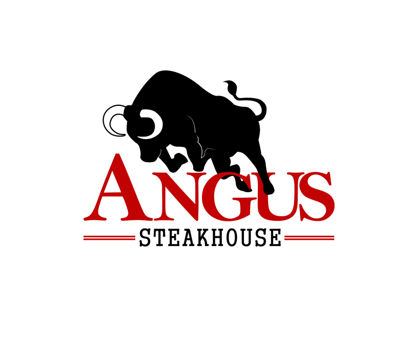 Logo Design by Robert Turla - Entry No. 122 in the Logo Design Contest Imaginative Custom Design for Angus Steakhouse.