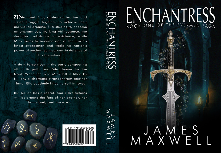 Book Cover Design by moidgreat - Entry No. 14 in the Book Cover Design Contest Book Cover Design for Epic Fantasy Novel: Enchantress.