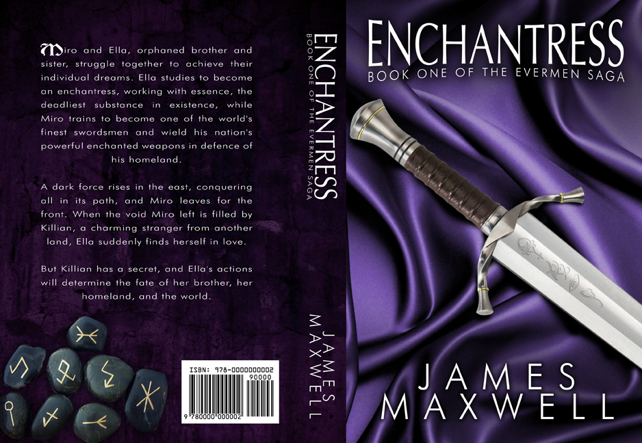 Book Covers Front And Back : Book cover design for epic fantasy novel enchantress