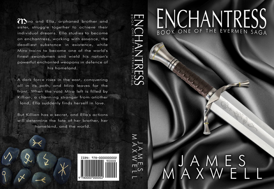 Book Cover Design by moidgreat - Entry No. 17 in the Book Cover Design Contest Book Cover Design for Epic Fantasy Novel: Enchantress.
