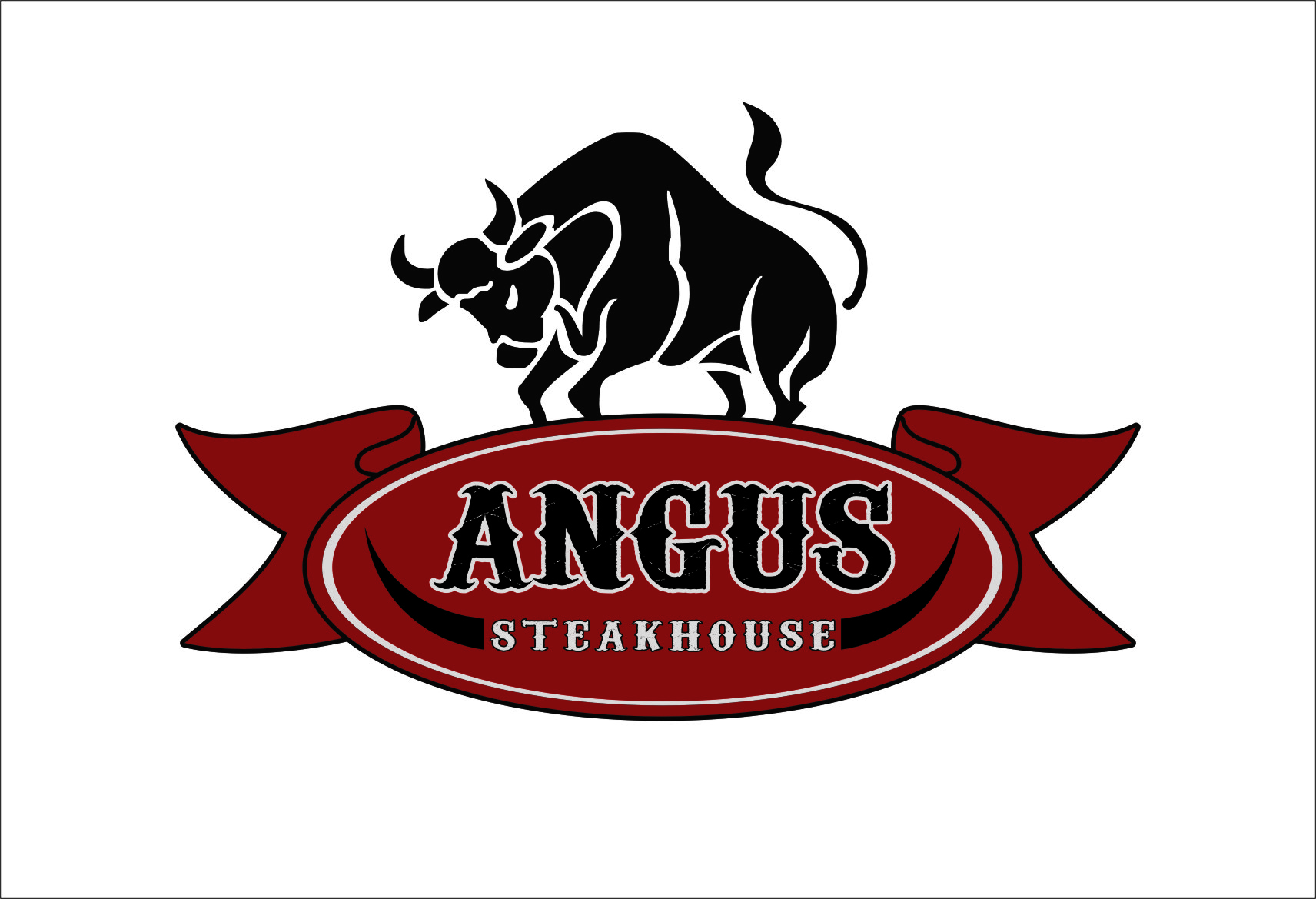 Logo Design by RasYa Muhammad Athaya - Entry No. 123 in the Logo Design Contest Imaginative Custom Design for Angus Steakhouse.