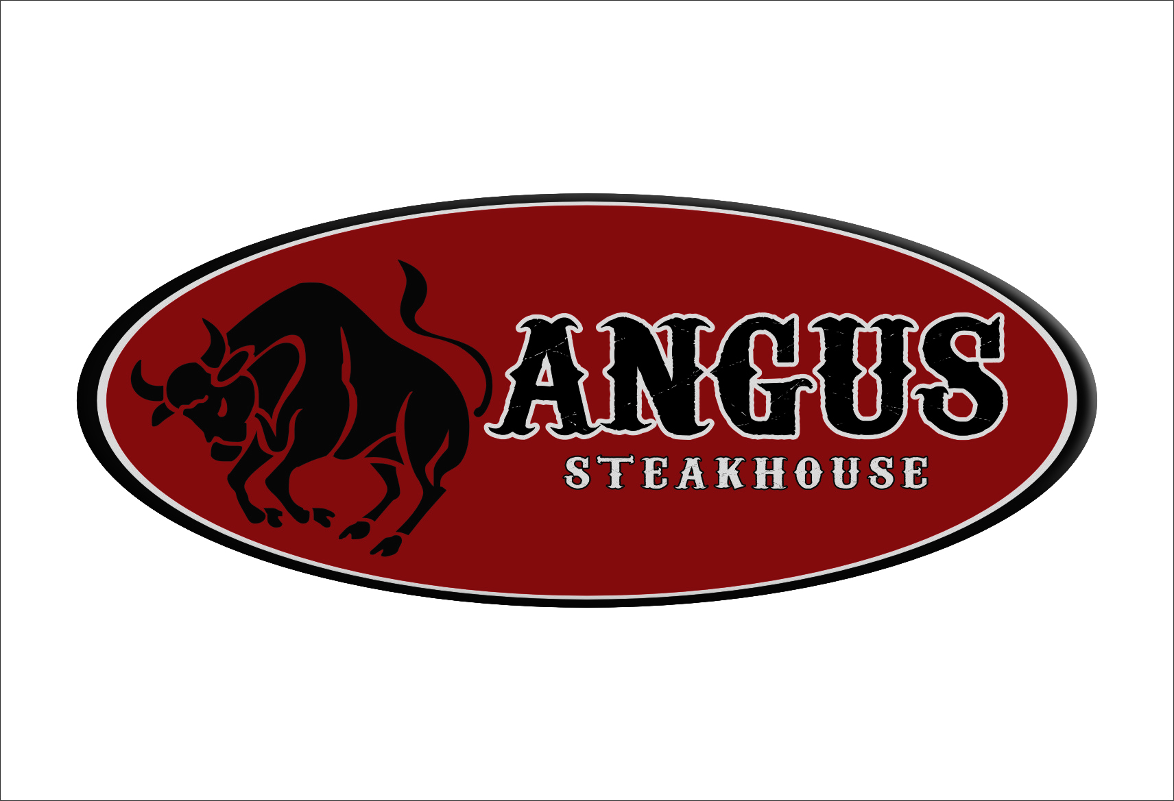 Logo Design by Ngepet_art - Entry No. 124 in the Logo Design Contest Imaginative Custom Design for Angus Steakhouse.