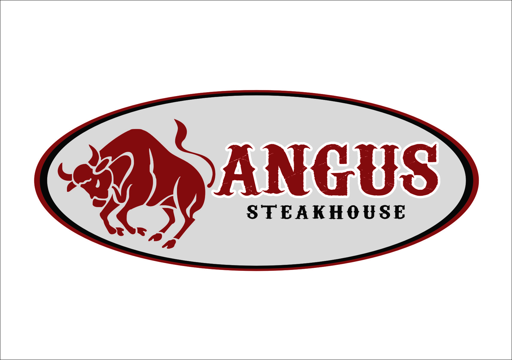 Logo Design by RasYa Muhammad Athaya - Entry No. 126 in the Logo Design Contest Imaginative Custom Design for Angus Steakhouse.