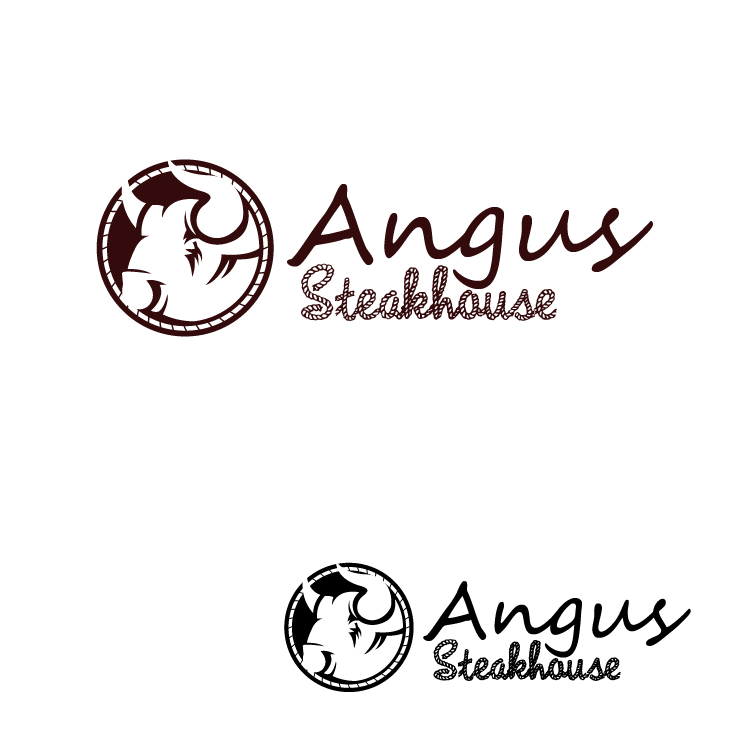 Logo Design by lagalag - Entry No. 128 in the Logo Design Contest Imaginative Custom Design for Angus Steakhouse.