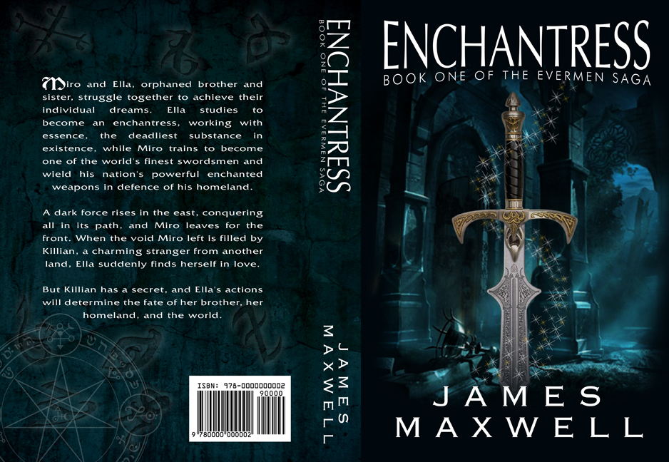 Book Cover Ideas For Competition : Book cover design for epic fantasy novel enchantress