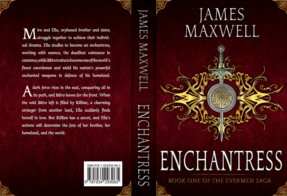 Book Cover Design by Dimitris Koletsis - Entry No. 22 in the Book Cover Design Contest Book Cover Design for Epic Fantasy Novel: Enchantress.