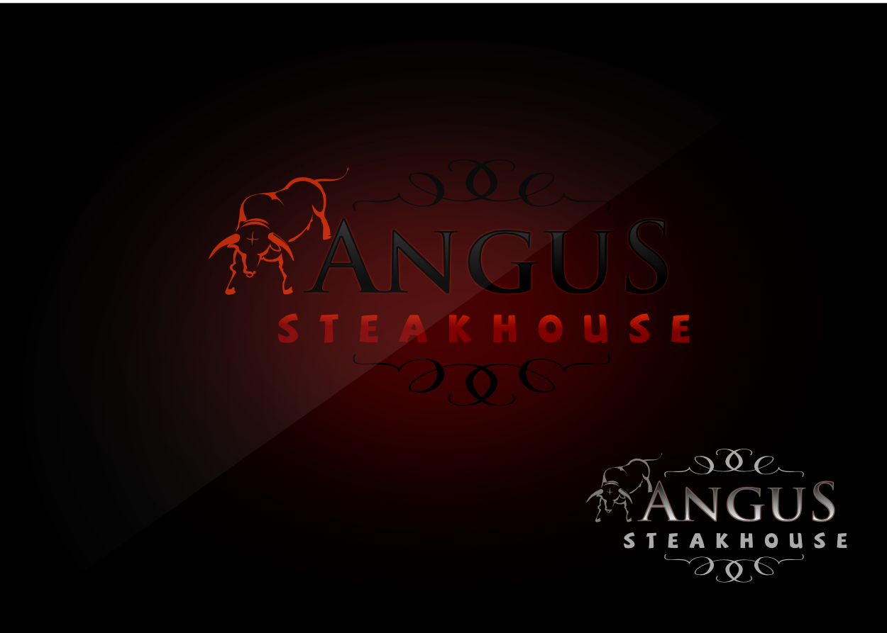 Logo Design by whoosef - Entry No. 129 in the Logo Design Contest Imaginative Custom Design for Angus Steakhouse.