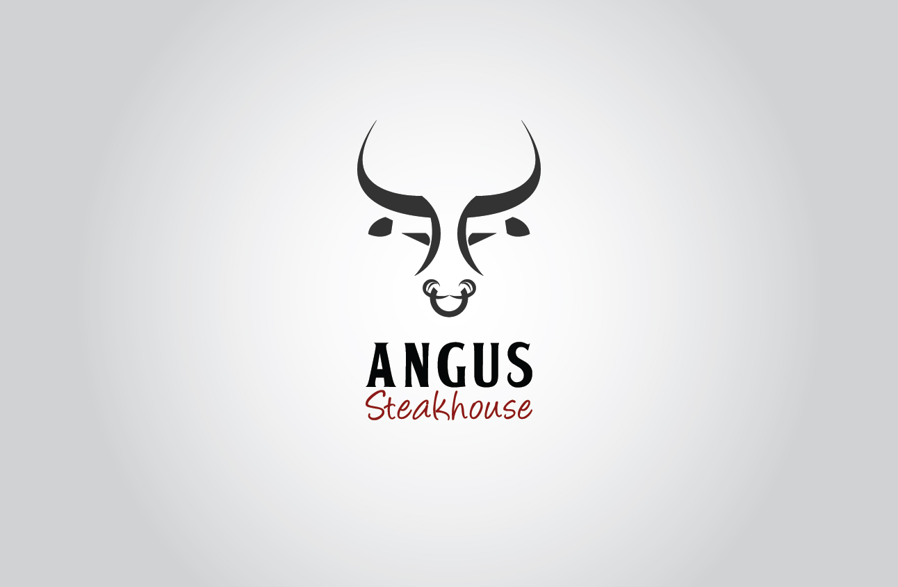 Logo Design by Ifan Maulana - Entry No. 130 in the Logo Design Contest Imaginative Custom Design for Angus Steakhouse.