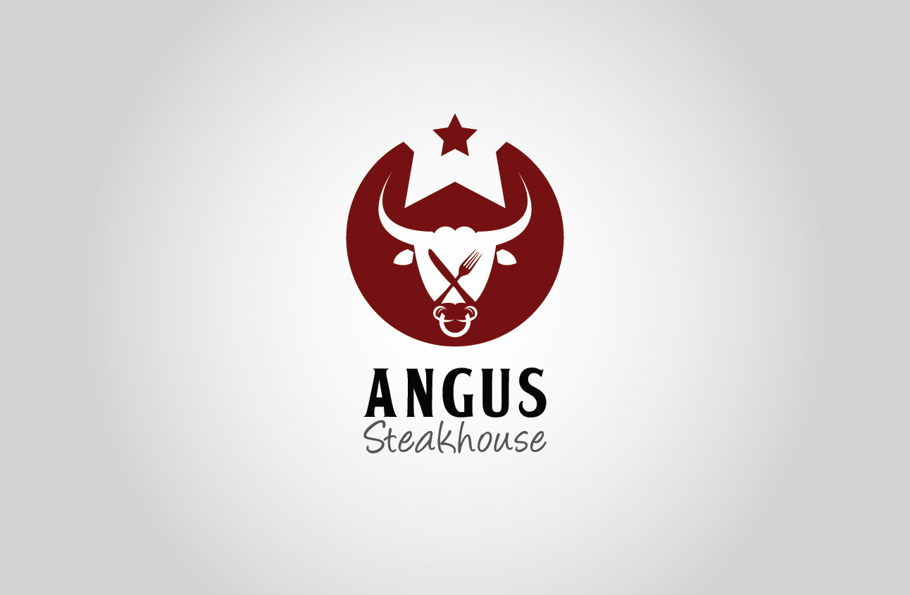 Logo Design by Ifan Maulana - Entry No. 132 in the Logo Design Contest Imaginative Custom Design for Angus Steakhouse.