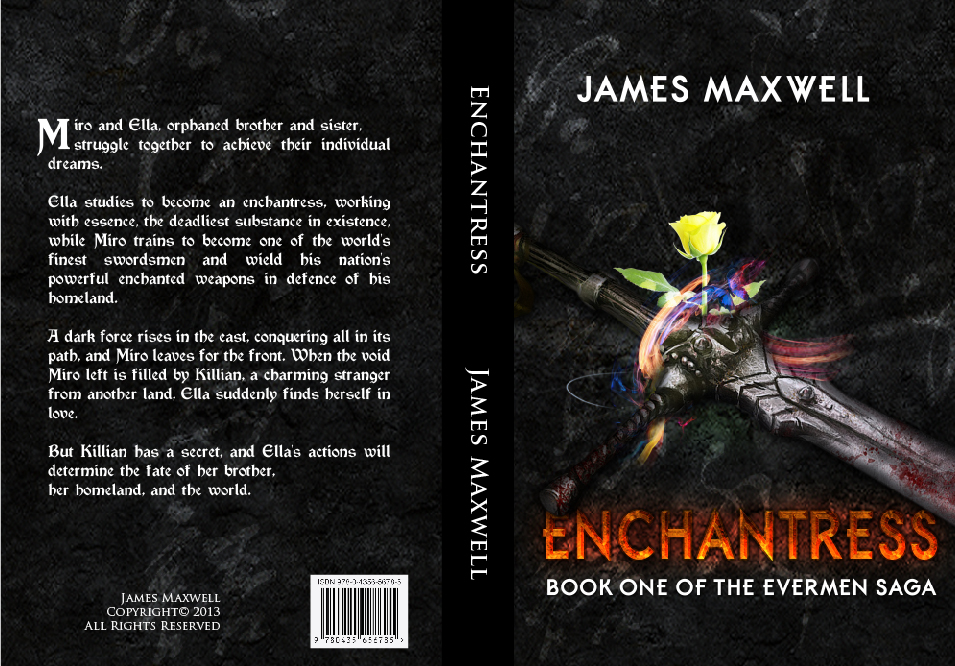 Book Cover Design by lagalag - Entry No. 24 in the Book Cover Design Contest Book Cover Design for Epic Fantasy Novel: Enchantress.