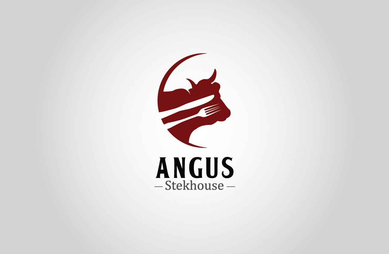 Logo Design by Ifan Maulana - Entry No. 133 in the Logo Design Contest Imaginative Custom Design for Angus Steakhouse.