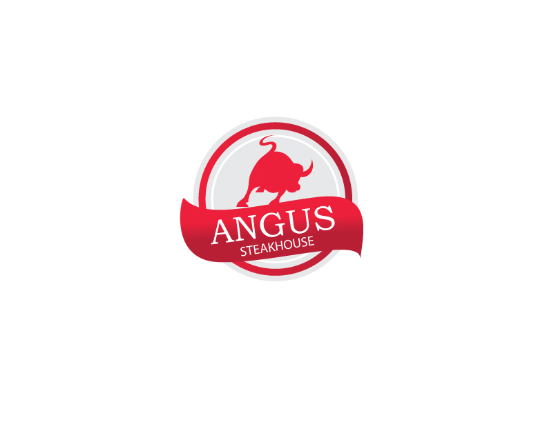 Logo Design by Private User - Entry No. 134 in the Logo Design Contest Imaginative Custom Design for Angus Steakhouse.