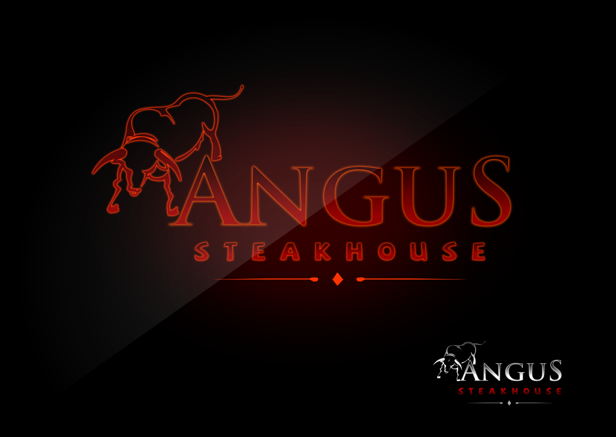 Logo Design by whoosef - Entry No. 137 in the Logo Design Contest Imaginative Custom Design for Angus Steakhouse.