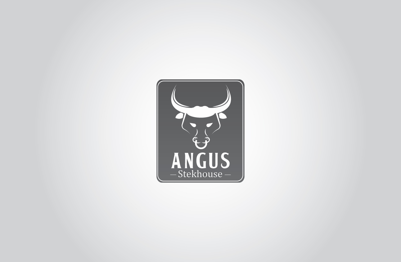 Logo Design by Ifan Maulana - Entry No. 138 in the Logo Design Contest Imaginative Custom Design for Angus Steakhouse.