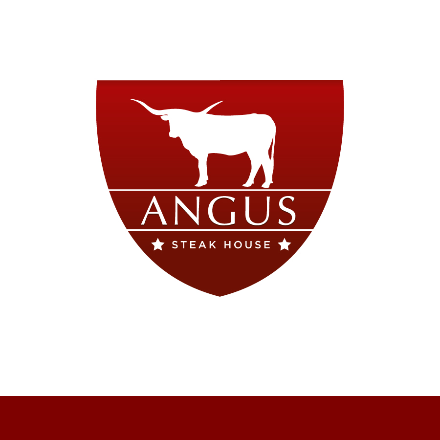 Logo Design by Edward Goodwin - Entry No. 140 in the Logo Design Contest Imaginative Custom Design for Angus Steakhouse.