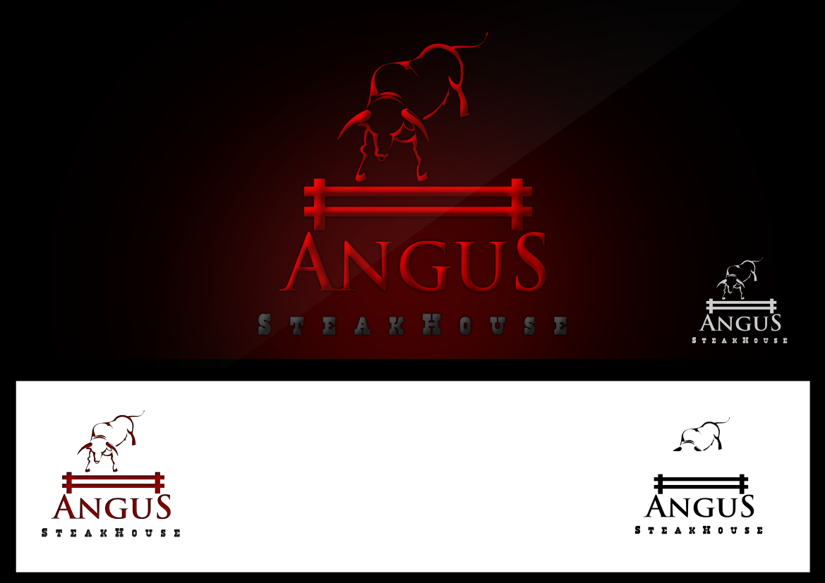 Logo Design by whoosef - Entry No. 147 in the Logo Design Contest Imaginative Custom Design for Angus Steakhouse.