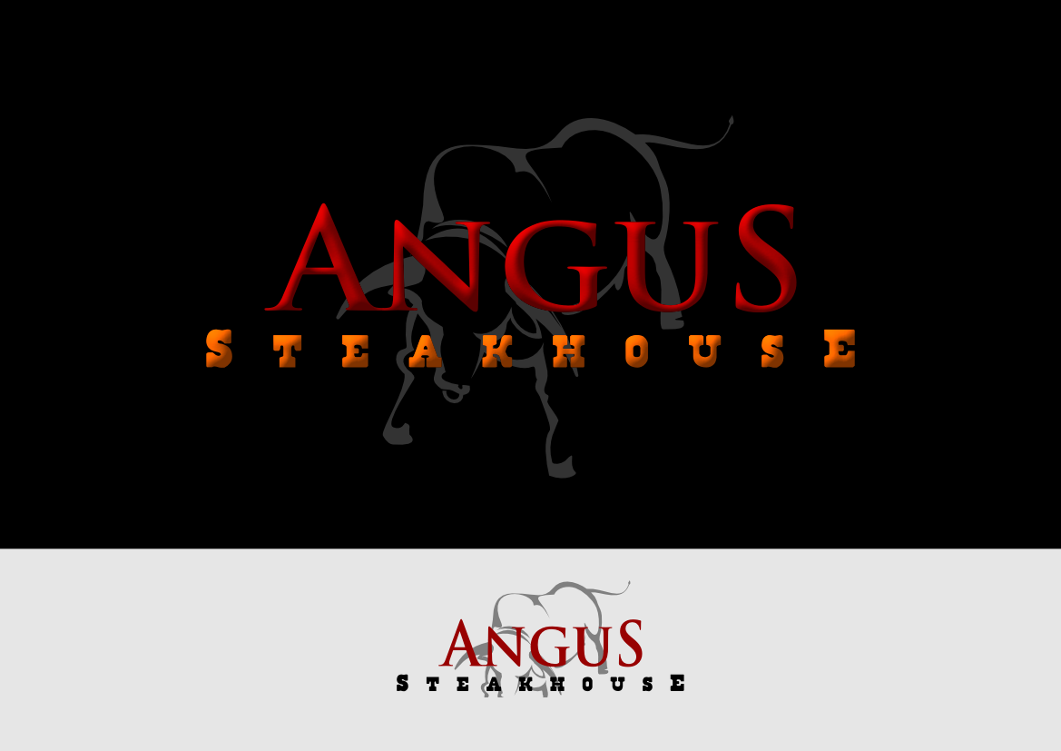 Logo Design by whoosef - Entry No. 148 in the Logo Design Contest Imaginative Custom Design for Angus Steakhouse.