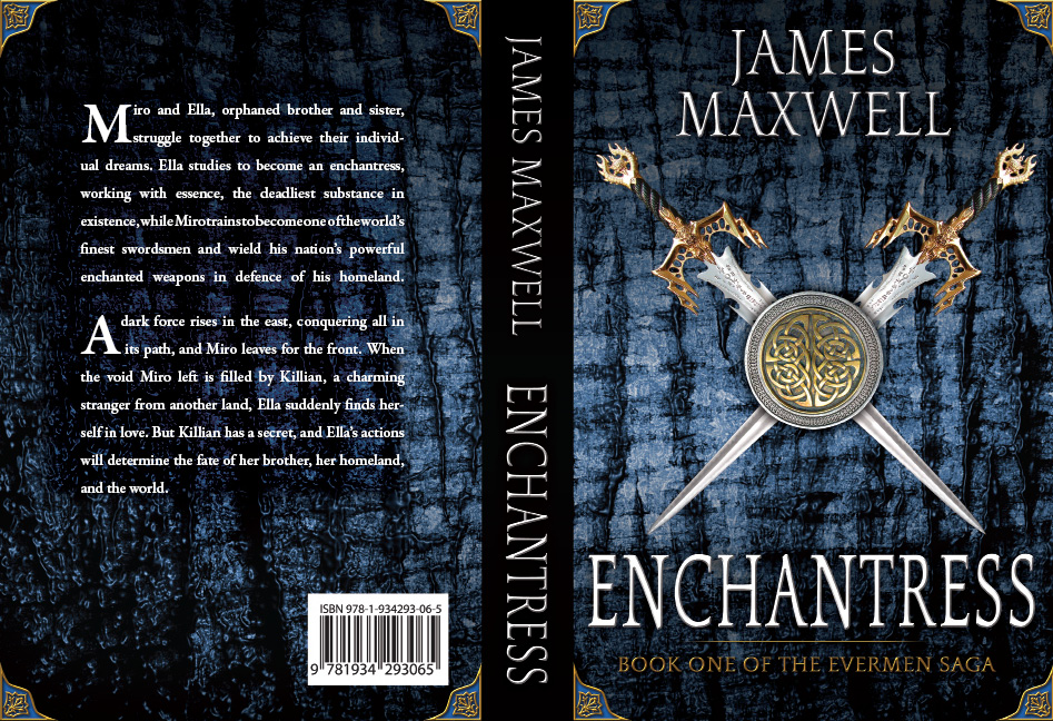 Book Cover Design by Dimitris Koletsis - Entry No. 31 in the Book Cover Design Contest Book Cover Design for Epic Fantasy Novel: Enchantress.