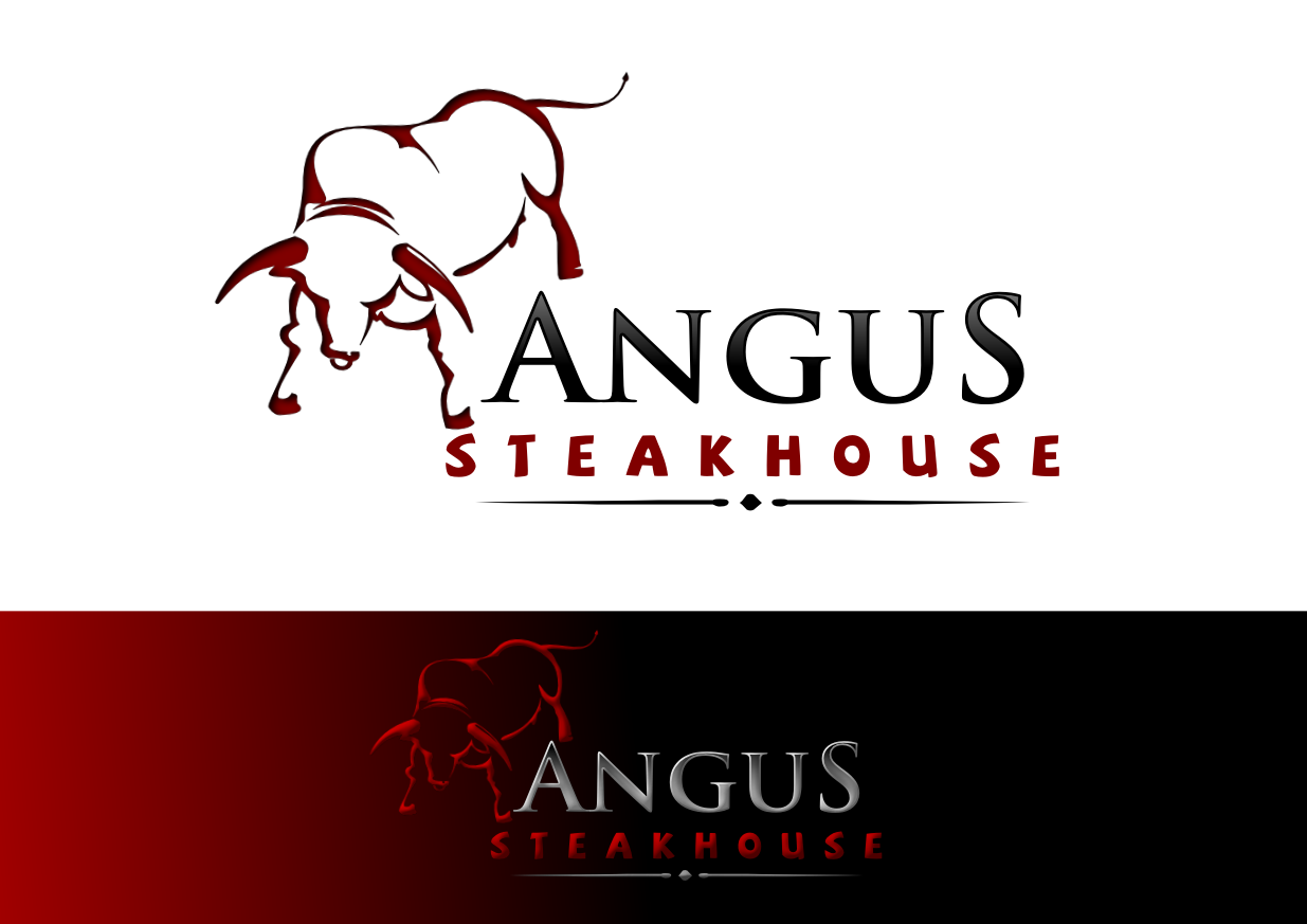 Logo Design by whoosef - Entry No. 151 in the Logo Design Contest Imaginative Custom Design for Angus Steakhouse.