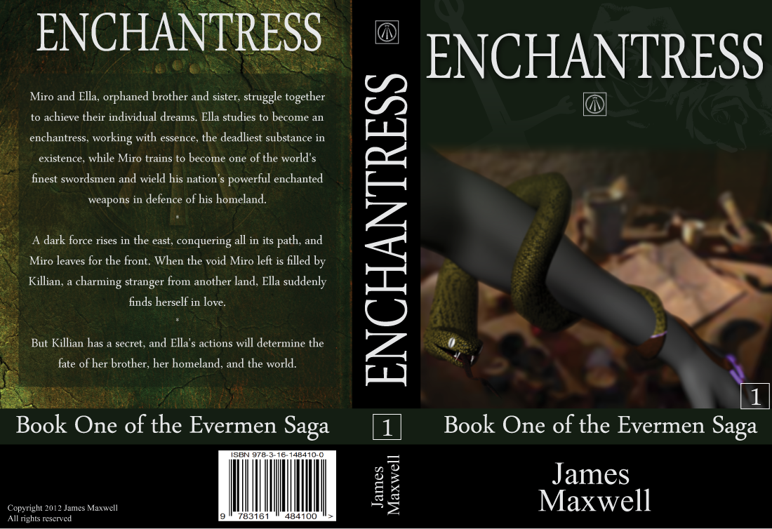 Book Cover Design by modo - Entry No. 32 in the Book Cover Design Contest Book Cover Design for Epic Fantasy Novel: Enchantress.