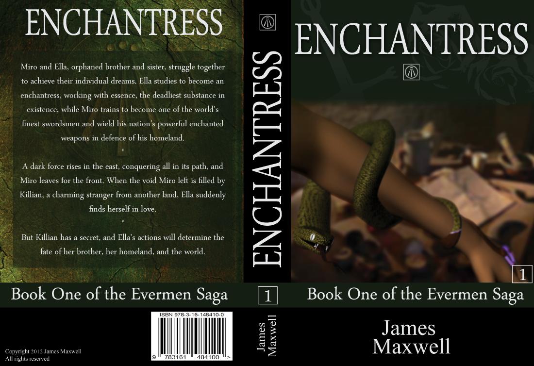 Book Cover Design by modo - Entry No. 34 in the Book Cover Design Contest Book Cover Design for Epic Fantasy Novel: Enchantress.