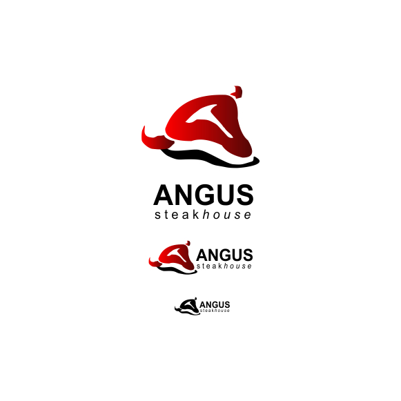 Logo Design by Think - Entry No. 154 in the Logo Design Contest Imaginative Custom Design for Angus Steakhouse.