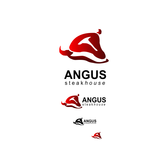 Logo Design by Think - Entry No. 155 in the Logo Design Contest Imaginative Custom Design for Angus Steakhouse.