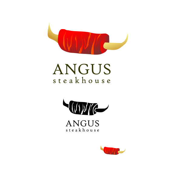 Logo Design by Think - Entry No. 156 in the Logo Design Contest Imaginative Custom Design for Angus Steakhouse.
