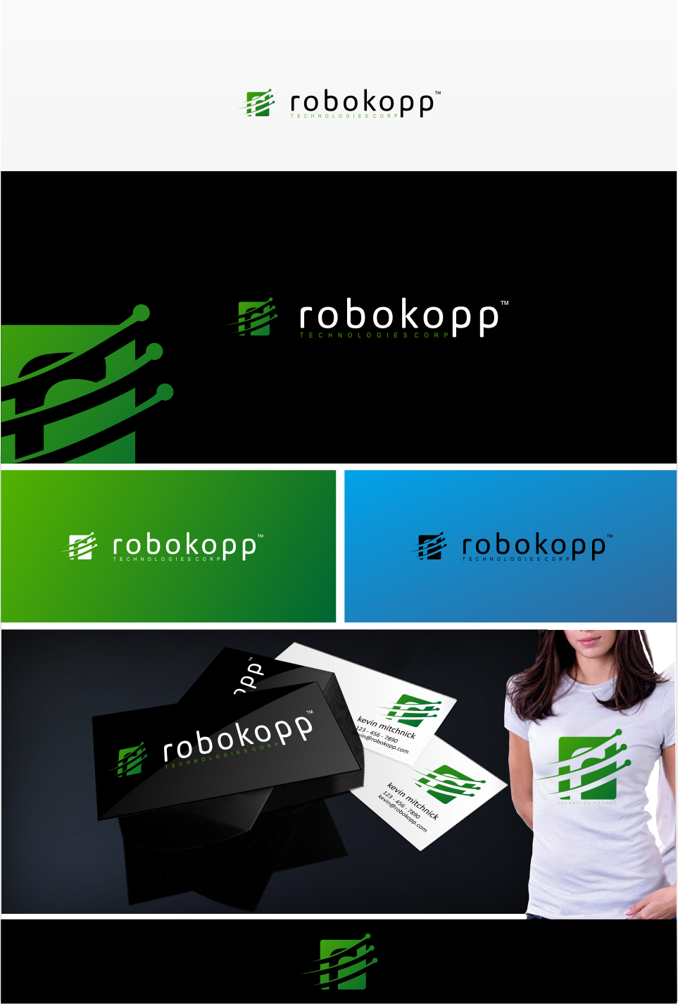 Logo Design by Mitchnick Sunardi - Entry No. 57 in the Logo Design Contest New Logo Design for Robokopp Technologies Corp..