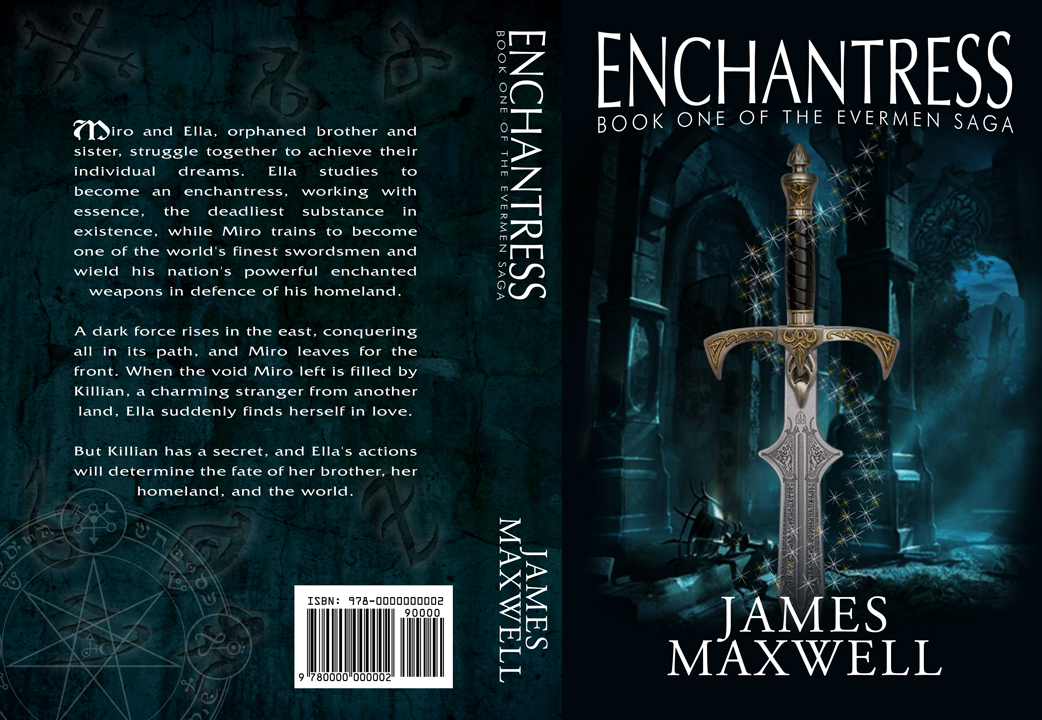 Book Cover Design by moidgreat - Entry No. 39 in the Book Cover Design Contest Book Cover Design for Epic Fantasy Novel: Enchantress.
