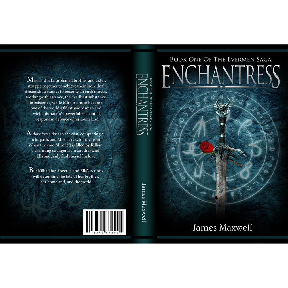 Book Cover Design by omARTist - Entry No. 41 in the Book Cover Design Contest Book Cover Design for Epic Fantasy Novel: Enchantress.
