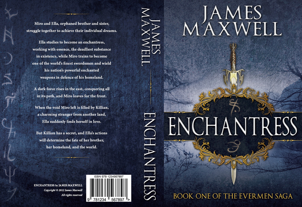 Book Cover Design by nausigeo - Entry No. 44 in the Book Cover Design Contest Book Cover Design for Epic Fantasy Novel: Enchantress.