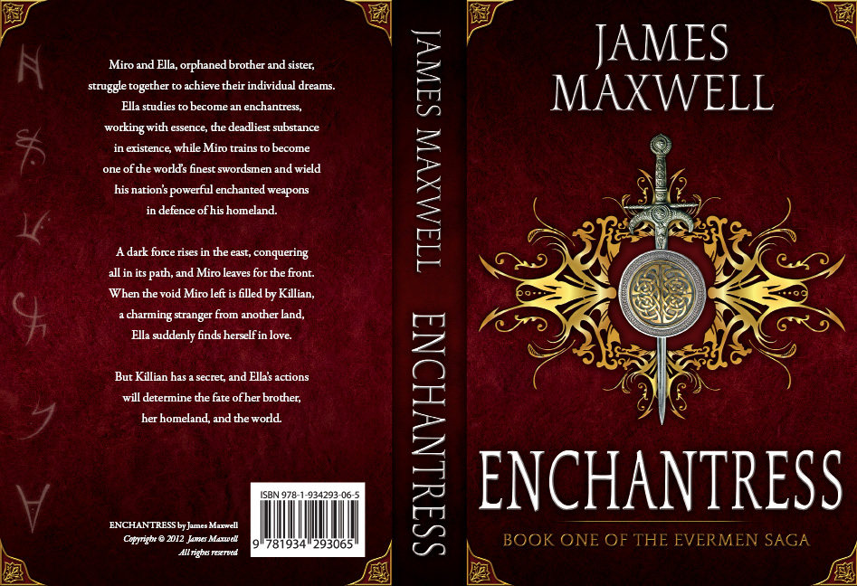 Book Cover Design by Dimitris Koletsis - Entry No. 46 in the Book Cover Design Contest Book Cover Design for Epic Fantasy Novel: Enchantress.