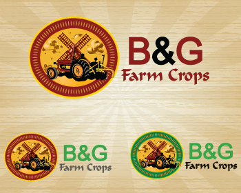 Logo Design by Nadia Khan - Entry No. 12 in the Logo Design Contest Artistic Logo Design for B & G Crop Farms.