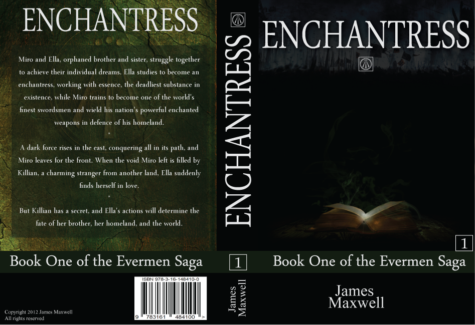Book Cover Design by modo - Entry No. 47 in the Book Cover Design Contest Book Cover Design for Epic Fantasy Novel: Enchantress.