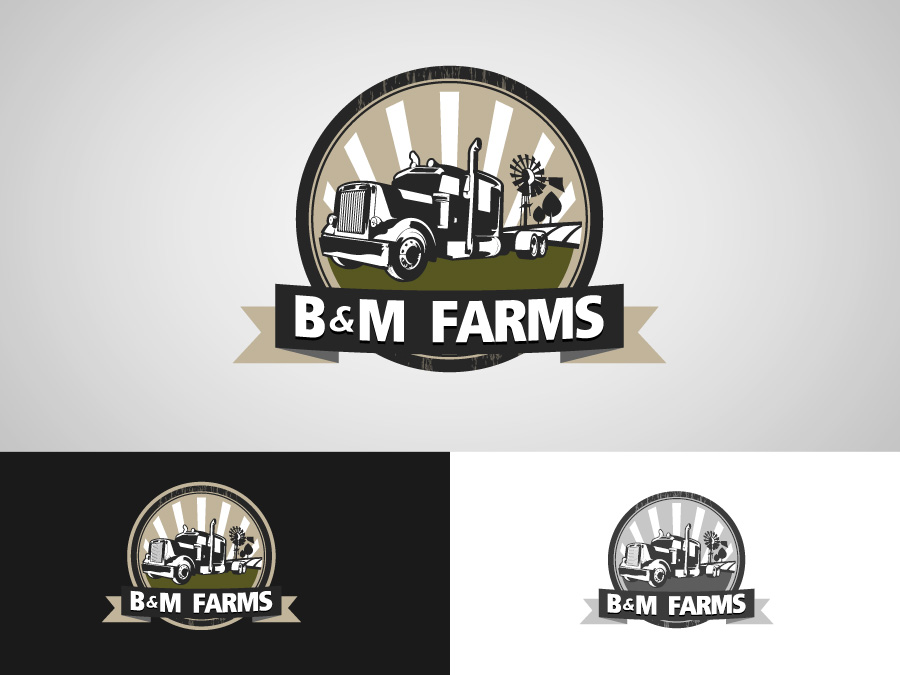 Logo Design by jpbituin - Entry No. 27 in the Logo Design Contest Creative Logo Design for B & M Farms, LLC.
