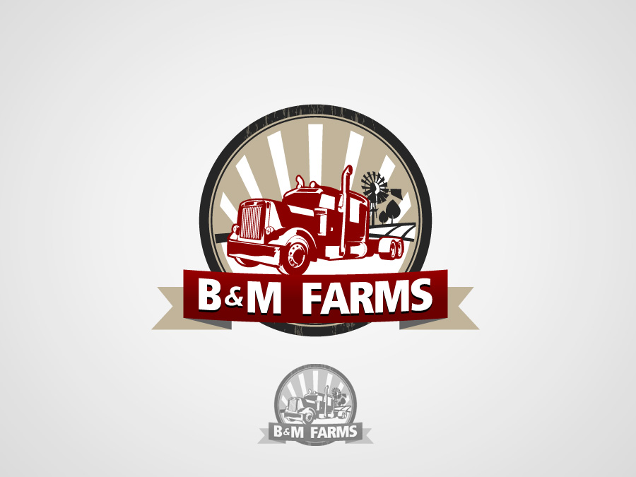 Logo Design by jpbituin - Entry No. 28 in the Logo Design Contest Creative Logo Design for B & M Farms, LLC.