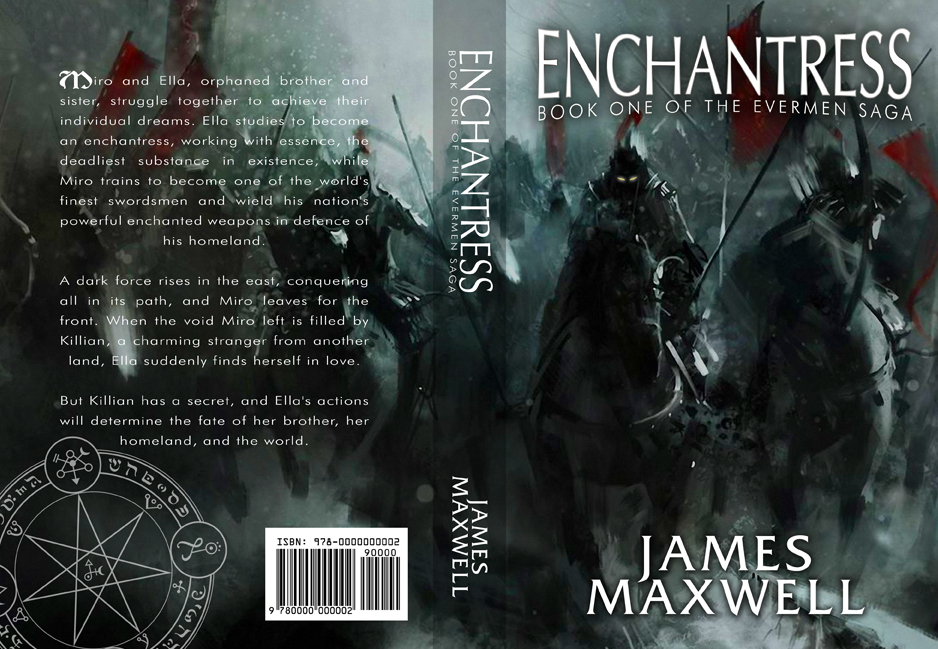 Book Cover Design by moidgreat - Entry No. 48 in the Book Cover Design Contest Book Cover Design for Epic Fantasy Novel: Enchantress.