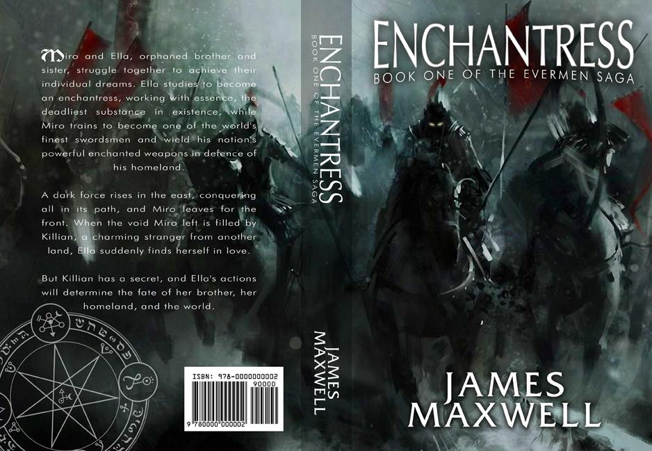 Book Cover Design by moidgreat - Entry No. 48 in the Book Cover Design Contest Book Cover Design for Epic Fantasy Novel: Enchantress.
